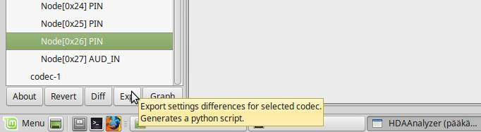 export python script