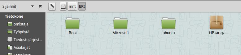 EFI folders