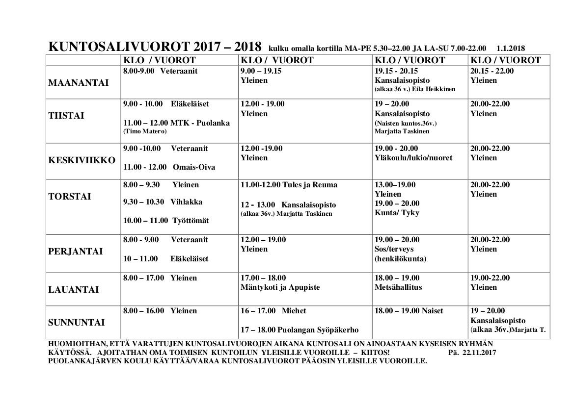 kuntosalivuorot-24-8-2016